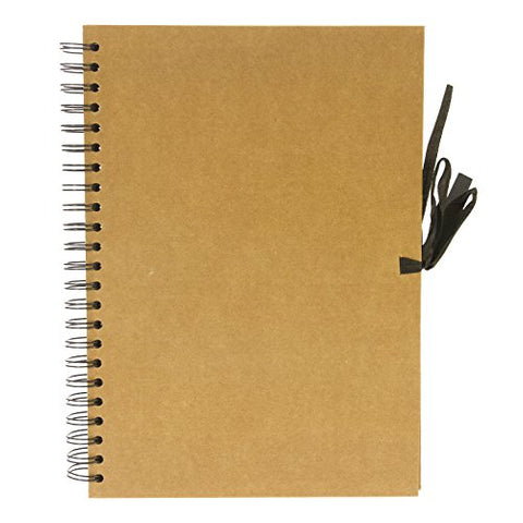 SEAWHITE NEW SPIRAL BOUND KRAFT PAPER DISPLAY BOOK - A4 - Portrait