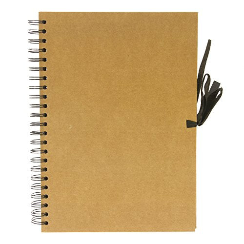 SEAWHITE NEW SPIRAL BOUND KRAFT PAPER DISPLAY BOOK - A5 - Portrait