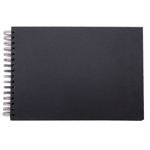 SEAWHITE BLACK CARD DISPLAY BOOK - A5 - Landscape