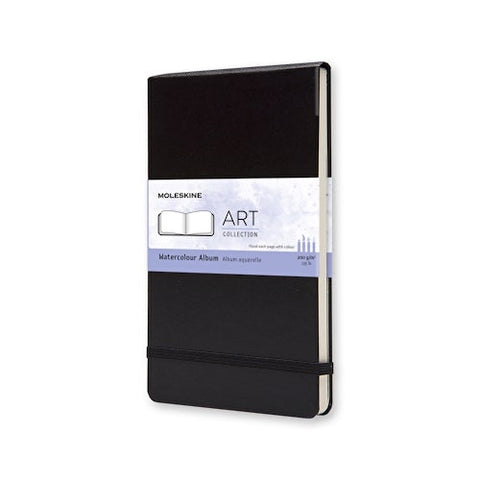 MOLESKINE NOTEBOOK - BLACK HARD COVER - WATERCOLOUR ALBUM - A4