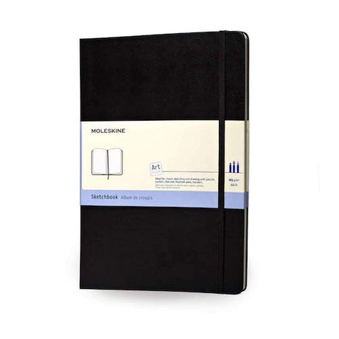 MOLESKINE NOTEBOOK - BLACK HARD COVER - SKETCHBOOK - A4