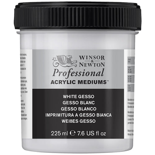 WINSOR & NEWTON PROFESSIONAL ARTISTS WHITE GESSO 225ml