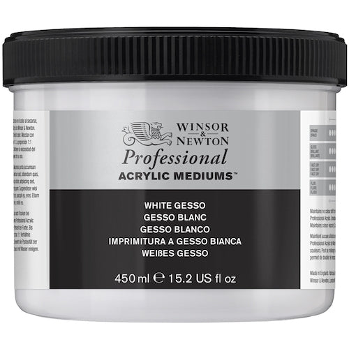 WINSOR & NEWTON PROFESSIONAL ARTISTS WHITE GESSO 450ml