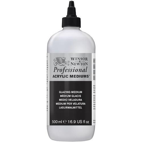 WINSOR & NEWTON PROFESSIONAL ACRYLIC GLAZING MEDIUM - 500ml