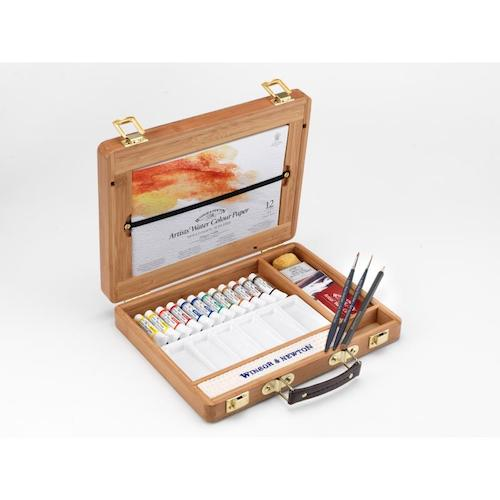WINSOR & NEWTON PROFESSIONAL WATERCOLOUR BAMBOO BOX - 5ml Tubes
