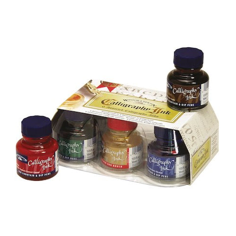 WINSOR & NEWTON CALLIGRAPHY INK SET - Six Colours