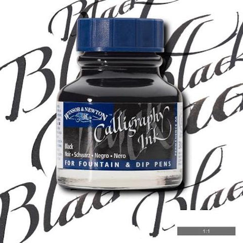 WINSOR & NEWTON CALLIGRAPHY INK 30ml - Black