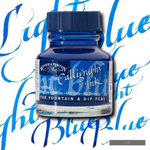 WINSOR & NEWTON CALLIGRAPHY INK 30ml - Light Blue