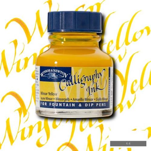 WINSOR & NEWTON CALLIGRAPHY INK 30ml - Winsor Yellow