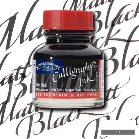 WINSOR & NEWTON CALLIGRAPHY INK 30ml - Matt Black