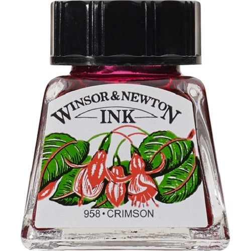 WINSOR & NEWTON DRAWING INK 14ml - Crimson