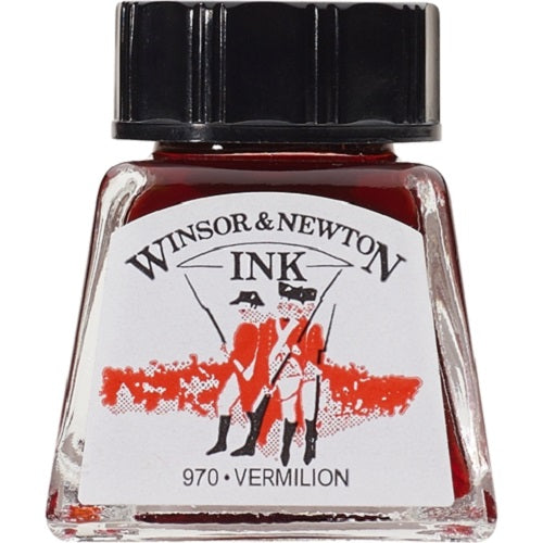 WINSOR & NEWTON DRAWING INK 14ml - Vermilion