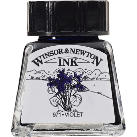 WINSOR & NEWTON DRAWING INK 14ml - Violet