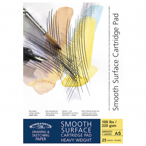 Winsor & Newton Cartridge Paper Pad - 220gsm - Smooth Surface - A5