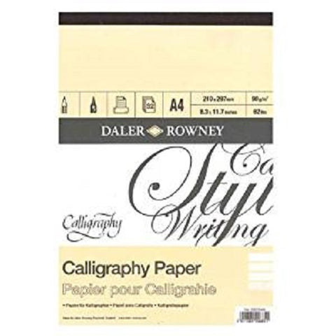 Daler Rowney Calligraphy Pad - 30 sheets 90gsm - A4