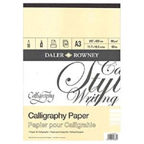 Daler Rowney Calligraphy Pad - 30 sheets 90gsm - A3
