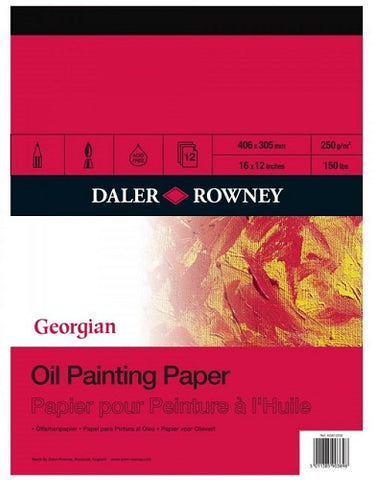 DALER ROWNEY GEORGIAN OIL PAINTING PAD -  12 Sheets - 16x12 inches