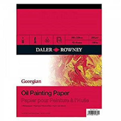 DALER ROWNEY GEORGIAN OIL PAINTING PAD -  12 Sheets - 12x9 inches