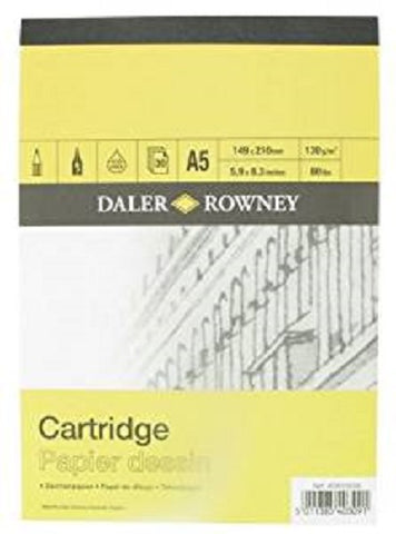 Daler Rowney Smooth Cartridge Paper Pad - 130 gsm - A5
