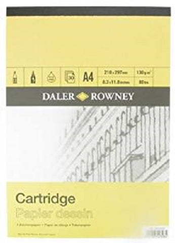 Daler Rowney Smooth Cartridge Paper Pad - 130 gsm - A4