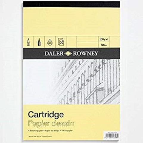 Daler Rowney Smooth Cartridge Paper Pad - 130 gsm - A3