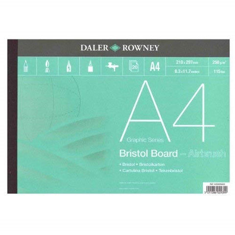 DALER ROWNEY BRISTOL BOARD ART PAD -  Smooth Surface - A4
