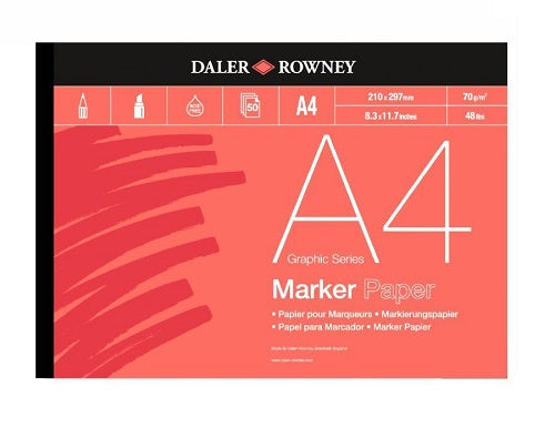 DALER ROWNEY BLEED PROOF MARKER PAD - A4