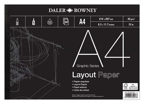 DALER ROWNEY LAYOUT PAD - A4