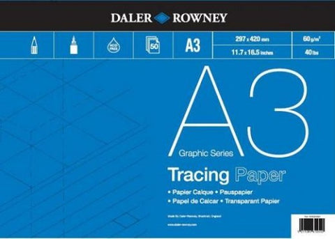 DALER ROWNEY TRACING PAPER PAD - A3