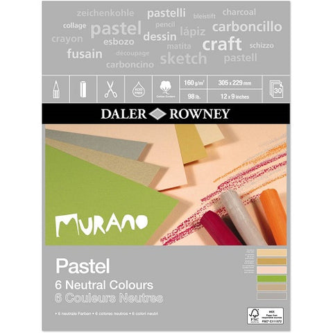 "Daler Rowney Murano Pastel Pad - Neutral Colours - 12"" x 9"""