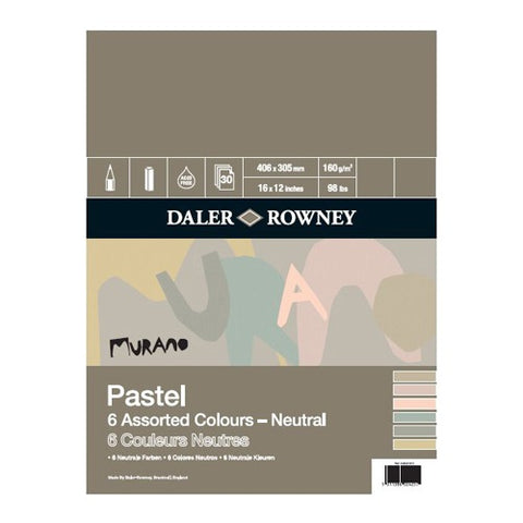 "Daler Rowney Murano Pastel Pad - Neutral Colours - 16"" x 12"""