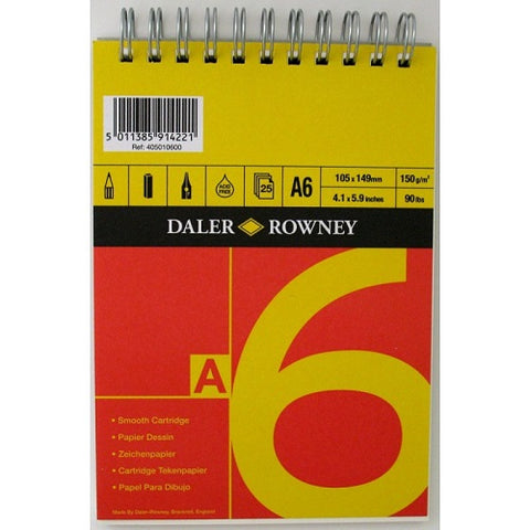 Daler Rowney Series A Spiral Cartridge Pad - A6