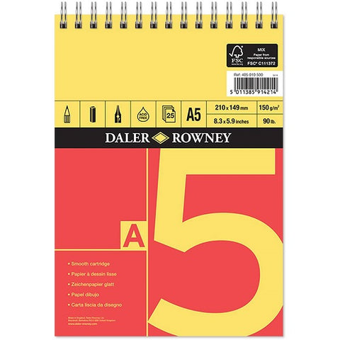 Daler Rowney Series A Spiral Cartridge Pad - A5