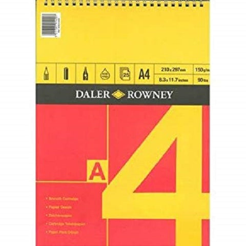 DALER ROWNEY SERIES A SPIRAL CARTRIDGE PAD - A4