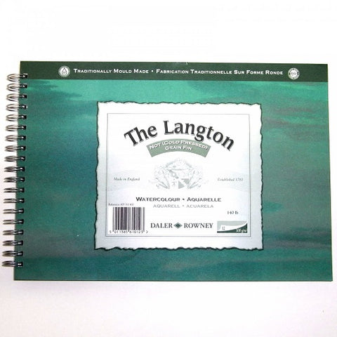 "DALER ROWNEY LANGTON WATERCOLOUR COLD PRESSED SPIRAL PAD - 12"" X 9"""