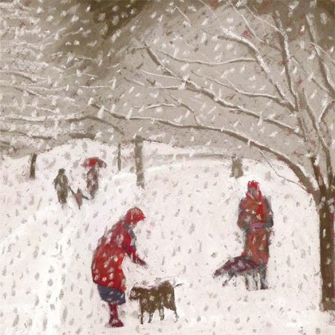 Charity Christmas Cards - Pack of 5 Cards - Sue Campion - A Walk in the Snowstorm