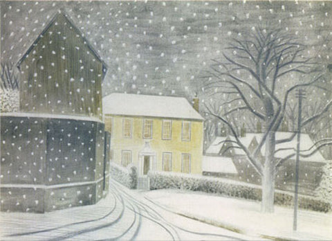 Canns Down Pack of 5 Charity Christmas Cards by Eric Ravilious - Halstead Road in Snow