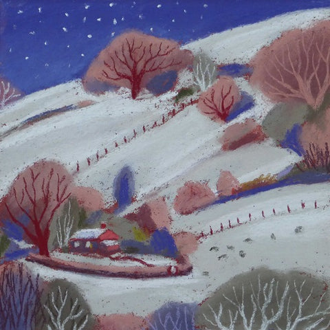 Charity Christmas Cards - Pack of 5 Cards - Sue Campion - Starry Night