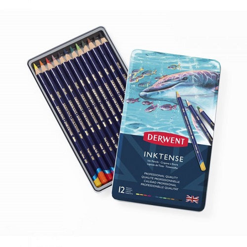 DERWENT INKTENSE PENCILS - Tin of 12 Pencils