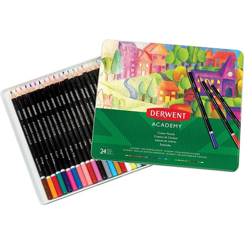 DERWENT  ACADEMY COLOUR PENCILS  SET OF 24