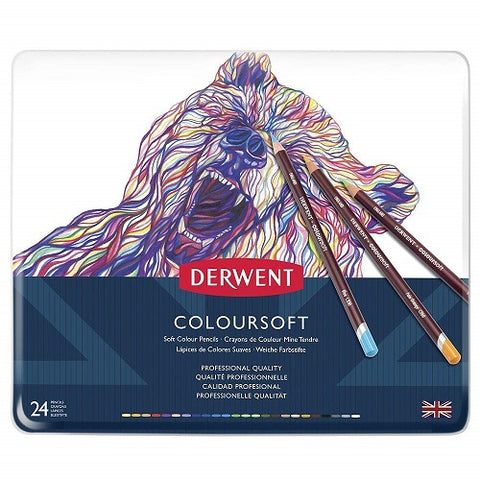 DERWENT COLOURSOFT PENCILS - Tin of 24 Pencils