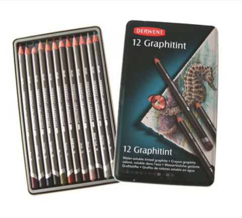 DERWENT GRAPHITINT PENCILS - Tin of 12 Pencils