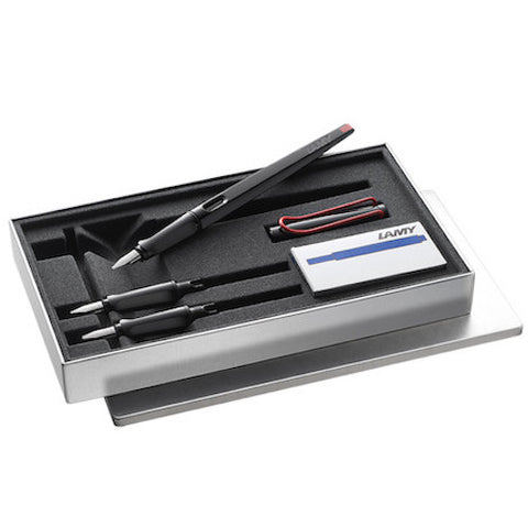 LAMY Joy Calligraphy Fountain Pen Set - Black - 1.1mm, 15mm, 1.9mm