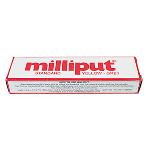 Milliput Epoxy Putty 2-stick Pack 113g (4oz) Yellow grey
