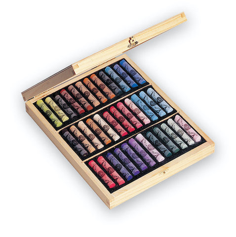 Sennelier Extra Soft Pastels Set 36 in a Wooden Box