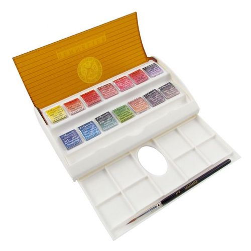 Sennelier Travel Box 14 Half Pans - Special Price
