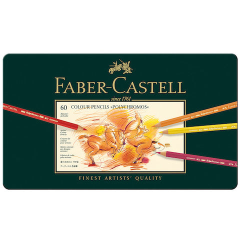 FABER CASTELL Polychromos Colour Pencils - Tin Of 60