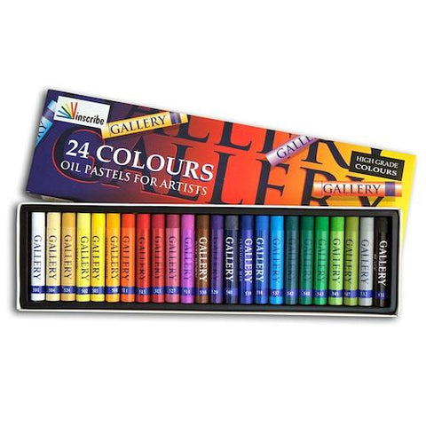 INSCRIBE OIL PASTEL Set of 24 Assorted Colours