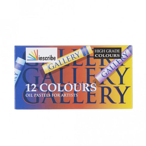INSCRIBE OIL PASTEL Set of 12 Assorted Colours