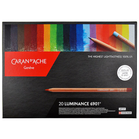 CARAN d'ACHE Luminance 6901 Colour Pencils - Set of 20